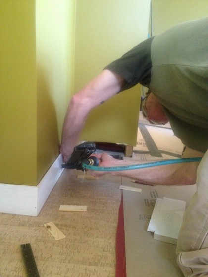 baseboard going in