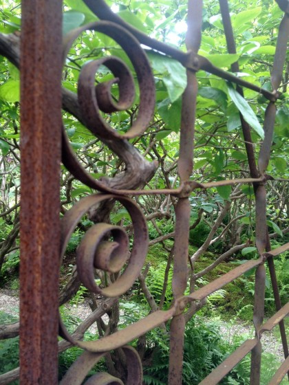 step through the garden gate
