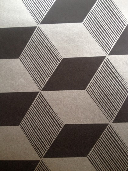 ooh, metallic! squares in black silver by fermliving
