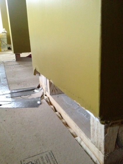 where the baseboard will go