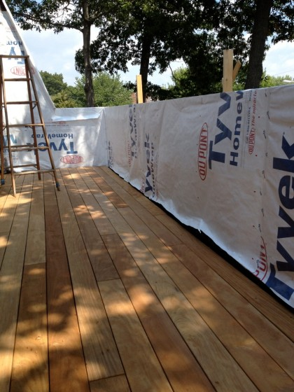 deck walls await