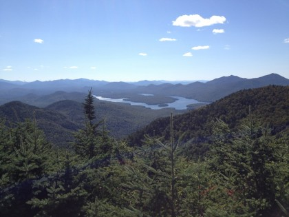 lake placid as seen from the top of whiteface mountain