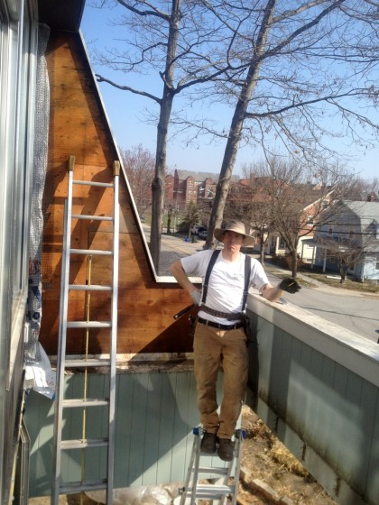 remember how it used to look? Joe removing the siding in March 2012