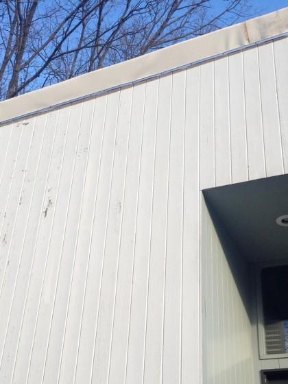 temporary roof edge.