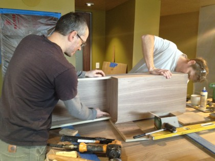 veneering the vanity